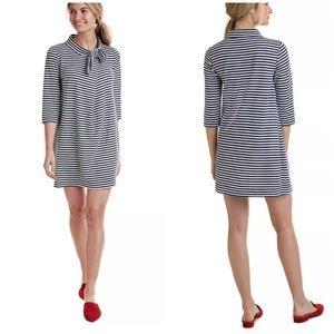 Vineyard Vines bow neck striped dress
